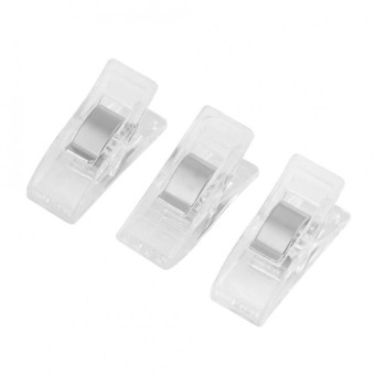 20pcs Plastic Clip For Quilting Sewing Knitting Fabric Binding Needlework Clamp (Transparent) - intl