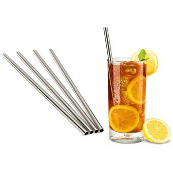6 mm x 21.5 CM Straight 304 Stainless Steel Straw