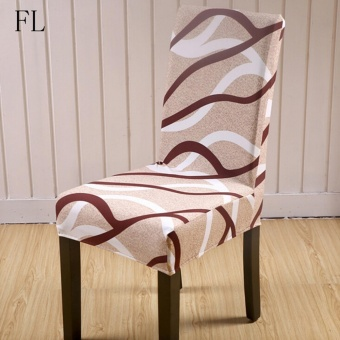 2x Stretch Elastic Dining Room Wedding Banquet Chair Cover Washable Slipcover Fashion Life - intl