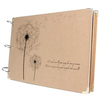 30 Sheets Inside DIY Rectangle Dandelion Printed Surface Scrapbook Photo Albums Valentines Day Gifts