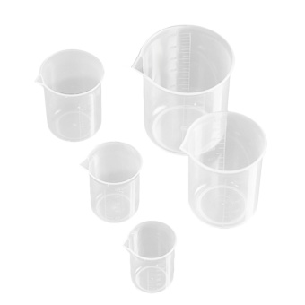 5 PCS Transparent Measuring Cup with Accurate Scales for Household Home Kitchen Laboratory 50ml 100ml 150ml 250ml 500ml - intl