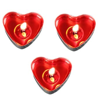50 PCS Heart Shape Candle Birthday Wedding Party Home Decor Candles Love Gift Red