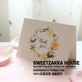 50 Zhang price fresh flower Thank you for discount card/giftcard/favor card/greeting card/Thank you Card