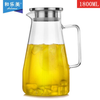 And le Mei glass hot water pot cold water pot heat-resistant home cool water pot cool water cup juice pot water with suit