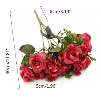 Artificial 15 Heads Rose High-end Simulation Plant Flowers Fake Party Home Wedding Birthday Decoration Flowers - intl