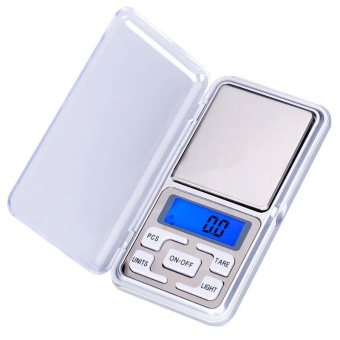 Big Family:Pocket Digital Jewelry Scale Weight 500gx0.1g LCD Weigh Balance Gram Silver+Grey - intl