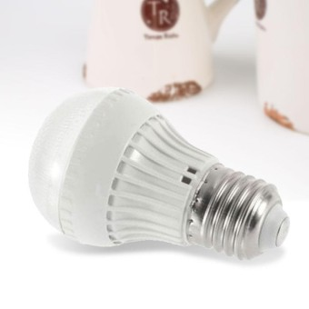 Boom Store-E27 LED 5W Microwave Radar Motion Ambient Sensor Light Lamp Bulb White Bright - intl
