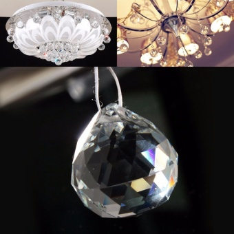 Clear Crystal Glass Chandelier Light Ball Prisms Suncatcher DropPendant - intl