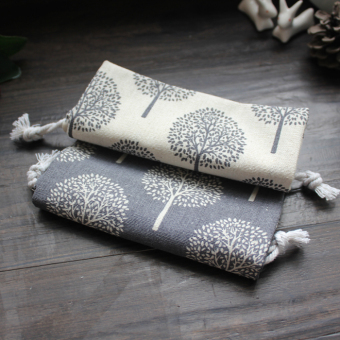 Harga Cloth language homemade/original handmade cotton bag/drawstring bagdrawstring pouch with black and white