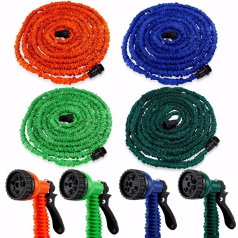 Deluxe 100 Feet Expandable Flexible Garden Water Hose w/ Spray Nozzle - intl