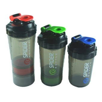 Diotem Whey Protein Suplementos Protein Shaker 3 In 1 Bottle With Mixing Submitted Ball - intl