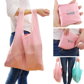 Eachgo Foldable Pocket Eco Shopping Bag Grocery Storage Handbag Travel Tote (6#) - intl