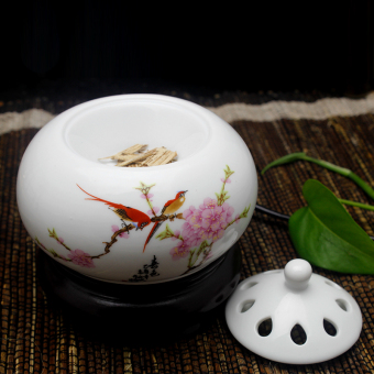 Electronic incense burner thermostat ceramic incense smoke bedroom electronic incense aromatherapy furnace electric incense burner aromatherapy powder Wood Oil