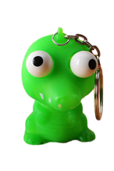 Fancyqube Cute Lovely Burst Eye Plush Doll Keychain Green