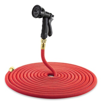 Garden Expandable Magic Flexible Water Hose Spray Nozzle 100ft - intl