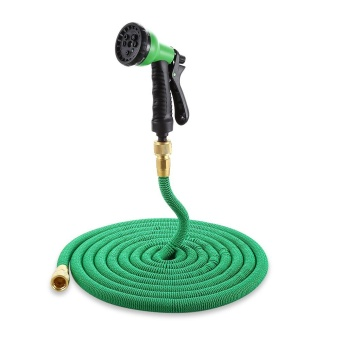 Garden Expandable Magic Flexible Water Hose Spray Nozzle 50ft - intl