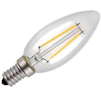Gosport E14 2W Warm White Candle Edison COB Filament Retro LED Light Candle/Flame Bulb Lamp Chandelier - intl