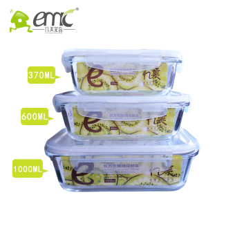 Harga heat-resistant glass container microwave sealed box