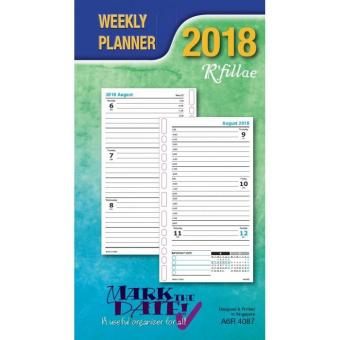 House Of Planners 4087 Weekly Planner Refill A6