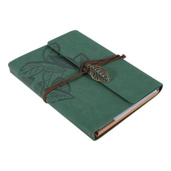 Artificial leather Cover Retro Photo Album Leaf Type DIY Birthday Wedding Gift (Green) - intl