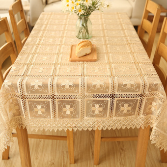 Harga White European table cloth TV cabinet tablecloth lace coffee table cloth pad cloth computer cover towel embroidery hollow