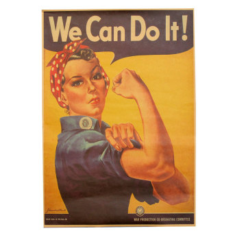 Harga Retro ''We Can Do It!'' Feminism Motivational Kraft Paper Poster 42 x 29CM