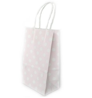 Harga 20pcs x Polka Dot Colored Kraft Paper Bag - Dot Purple