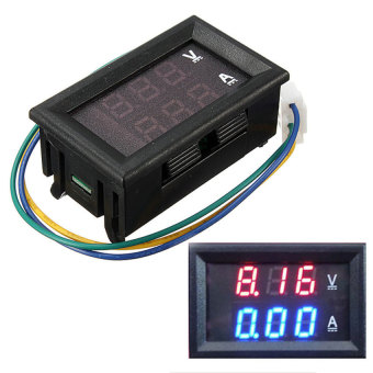 Harga DC 4.5-30V 0-50A Dual Digital LED Volt Meter Ammeter Voltage AMPPower Meter 12V (Black) - intl