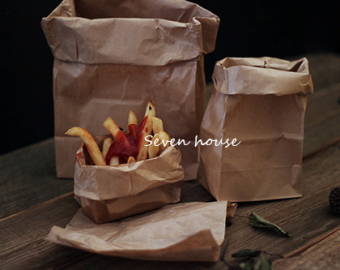 Harga Pictures of oil pad of paper kraft paper bag food photography props