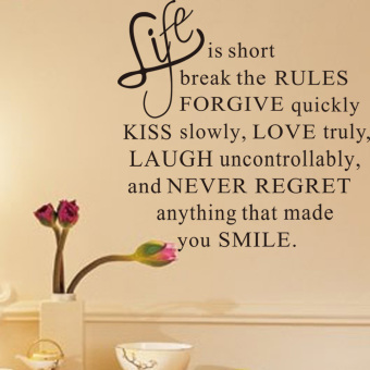 Harga Removable Decals Live Life Love Kiss Proverb Wall Posters Sticker Decor