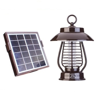 Harga Solar Powered Mosquitoes Equalizer Killer With Solar Light
