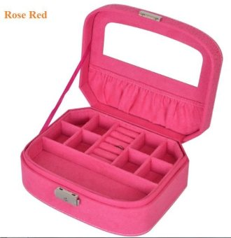 Harga Trendy Plush Jewellery box - Rose Red