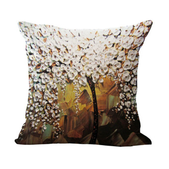 Harga PAlight Printed Cotton Linen Cushion Pillow Case