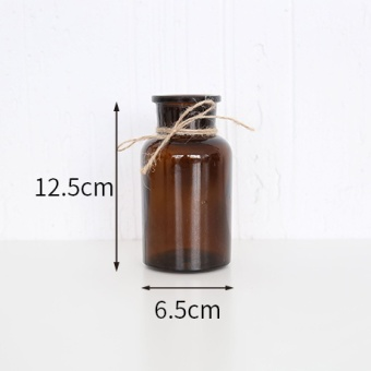Harga Poly cute simple zakka transparent brown vase art glass vase home decoration European dried flowers vase