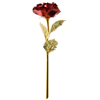 Harga 24K Gold Dipped Rose Long Stem Cute Flower Valentine Red