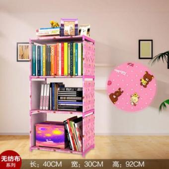 Korean multi-function storage bookcase, the child's bookshelves, multi-layer finishing cabinet-4 layer - intl