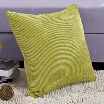 Corn kernels Corduroy Sofa Decor throw Pillow Case Cushion Cover #H Square 45cm Green - intl