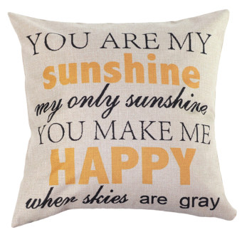 Home Decor Cotton Letter Sunshine Throw Sofa Case Pillow Car Cushion Cover Bedding
