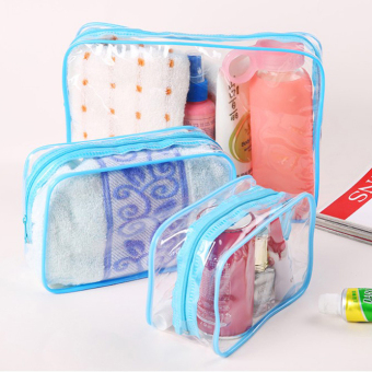 Outdoor travel storage bag zipper transparent waterproof cosmetic bag bath products storage bag wash bag finishing package