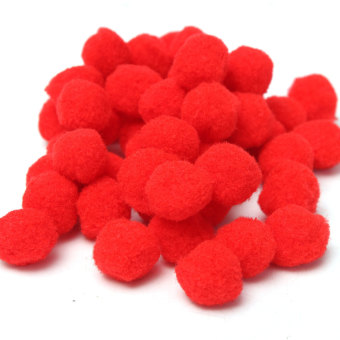 Harga 50Pcs 2cm Soft Pom Poms Pompoms Balls Bobbles For DIY Craft Card Making Decor Red - Intl