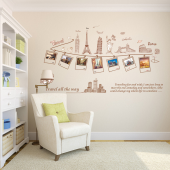 Harga Adhesive wall sticker romantic bedroom living room sofa background decorative wall stickers photo wall stickers creative stickers travel sticker