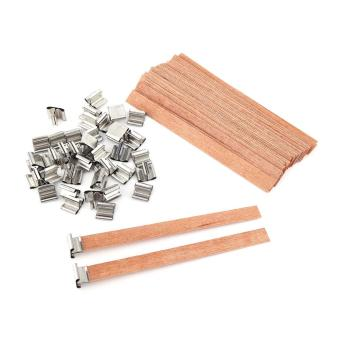 Harga 40Pcs Wooden Wick Wax Candle Core Sustainers Handmade DIY Making- 12.5×150mm - intl