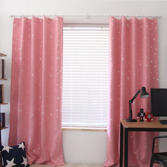 Harga Blackout Thermal Solid Window Curtai Pink