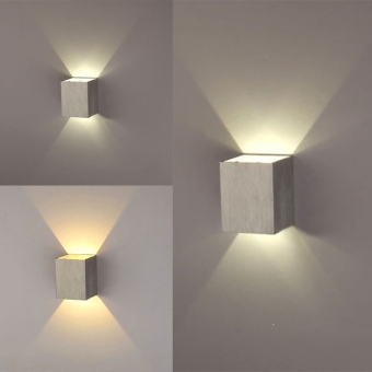 Harga 3W LED Square Wall Lamp Hall Walkway Living Room Light Fixture (Yellow)