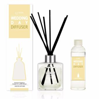 Luxor Aroma Reed Diffuser Wedding Day 200ml Bottle + 200ml Refill + 5 Reed Sticks(Export) Price in Singapore