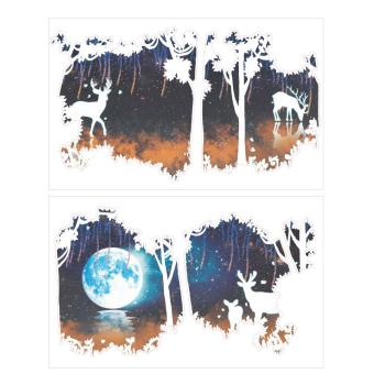 Harga Removable Waterproof Forest Deer Wall Stickers - intl