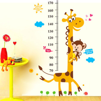 Harga Height stickers can be removed wall stickers baby measuring height Cartoon children's room boy bedroom decorative cartoon stickers