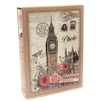 6'' 200 Photos Classic Slip-In Wedding Photo Album Hold Gift Clock Tower - intl