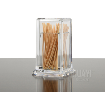 Harga Acrylic creative toothpick box toothpick tube cotton swab box cotton swab tube cute transparent organic glass oval dining