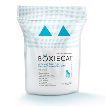 Harga Boxiecat Litter 16 lbs Set of 4 (White)